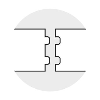 Greydur: dettaglio spigolo M-F
